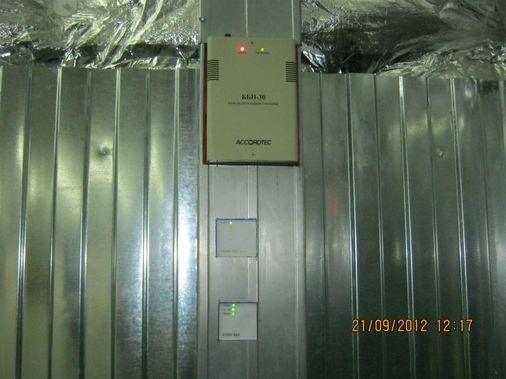 установка и монтаж блока питания и пожарно-охранного оборудования фирмы Болид